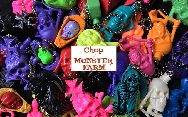 Resin key holders by Chop of Monster Farm