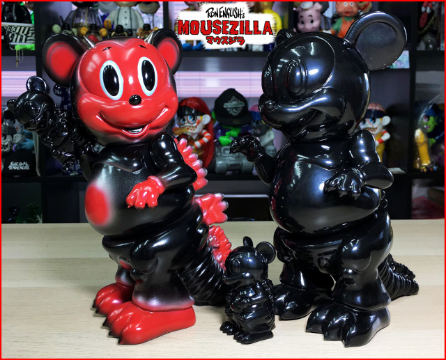 Ron English:Mousezilla Red Devil&Ninja
