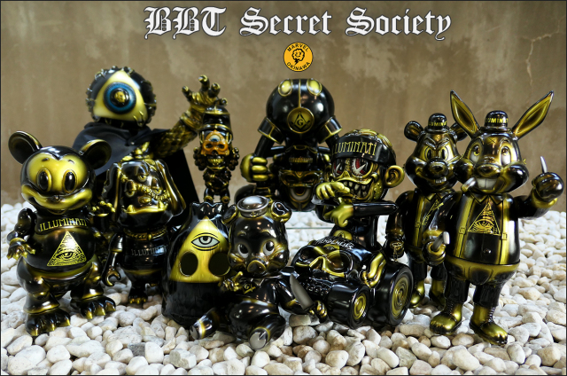 BlackBook Toy Secret Society Members one offs by Marvel Okinawa