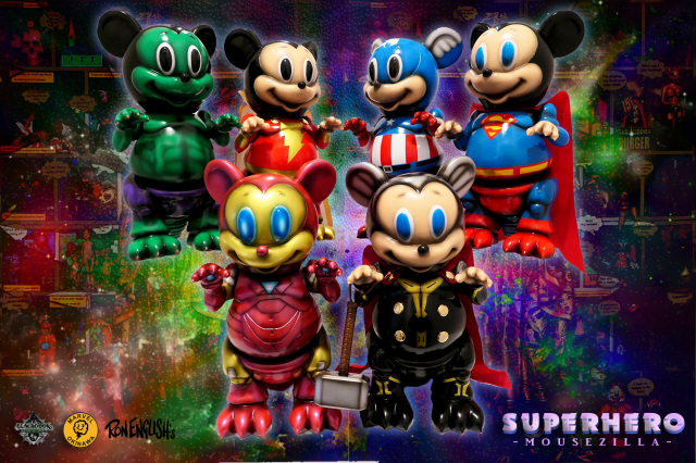Super Hero Mousezilla one offs by Marvel Okinawa Lottery