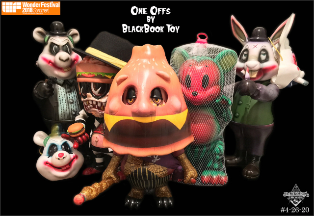 One offs by BlackBook Toy at Wonder Fest