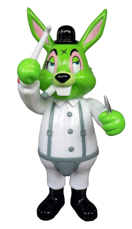 Frank Kozik x BlackBook Toy:A Clockwork Carrot 11インチフィギュア Toxic Green Dcon Exclusive