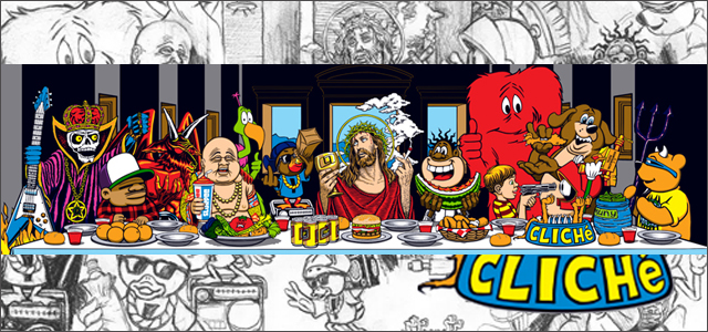 Marc McKee:Last Supper Screen Prints