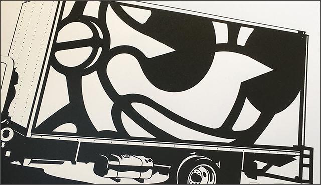 David Flores(デイビッド・フローレス) Kidrobot Truck BK(キッドロボット・トラック) シルクスクリーンポスター