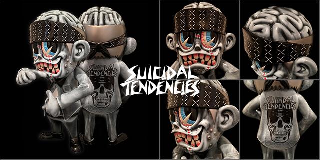 Suicidal Tendencies x BlackBook Toy(スイサイダル・テンデンシーズ) SKUM-kun 10インチフィギュア Stone edition