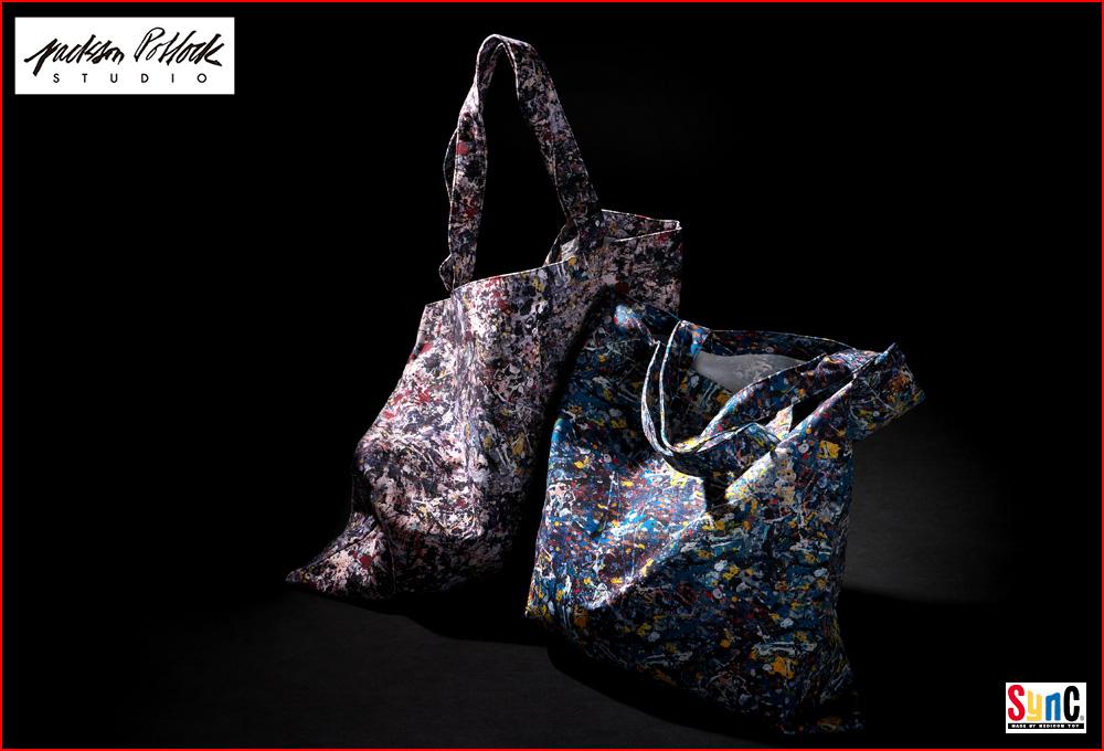 Jackson Pollock x SYNC:Tote bags