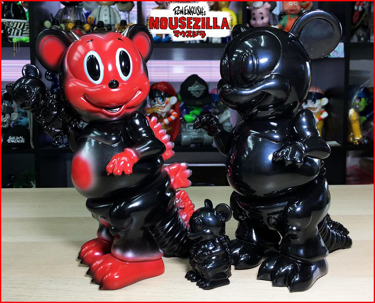 Ron English:Mousezilla Red Devil and Ninja