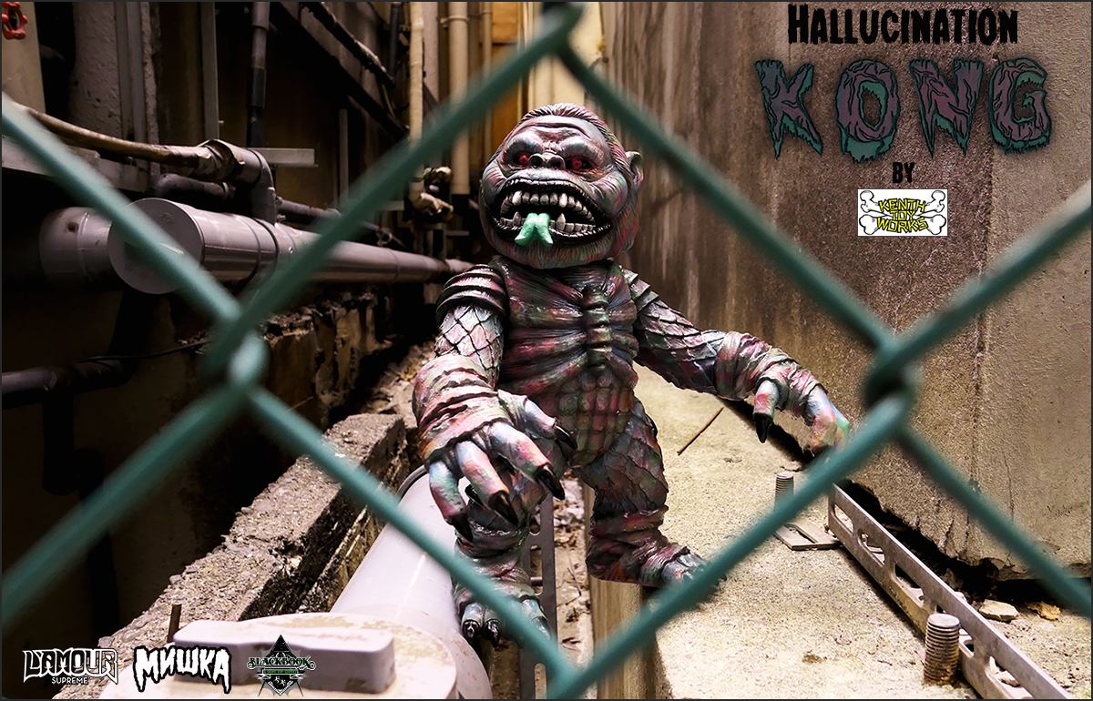 MISHKA x Lamour Supreme:Hallucination KONG by Kenth Toy Works