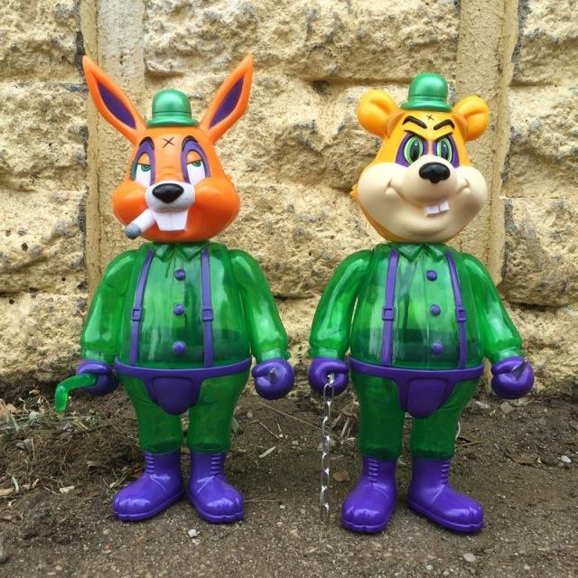 Frank Kozik x BlackBook Toy:A Clockwork Carrot Lil Alex&Dim 11インチフィギュア Enigma Edition