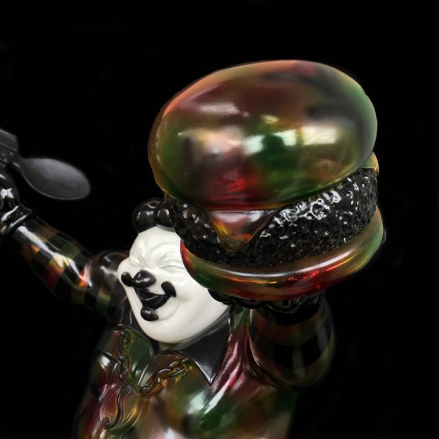 Ron English x BlackBook Toy( ロン・イングリッシュ):EVIL MC 16インチフィギュア Autumn Stealth Camo