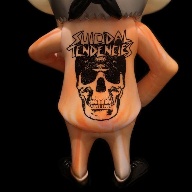 Suicidal Tendencies x BlackBook Toy(スイサイダル・テンデンシーズ) SKUM-kun 10インチフィギュア Acid Marble edition