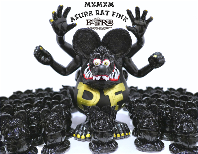 Magical Mosh Misfits x BlackBook Toy:Asura Rat Fink GOLD x BK x Matte BK
