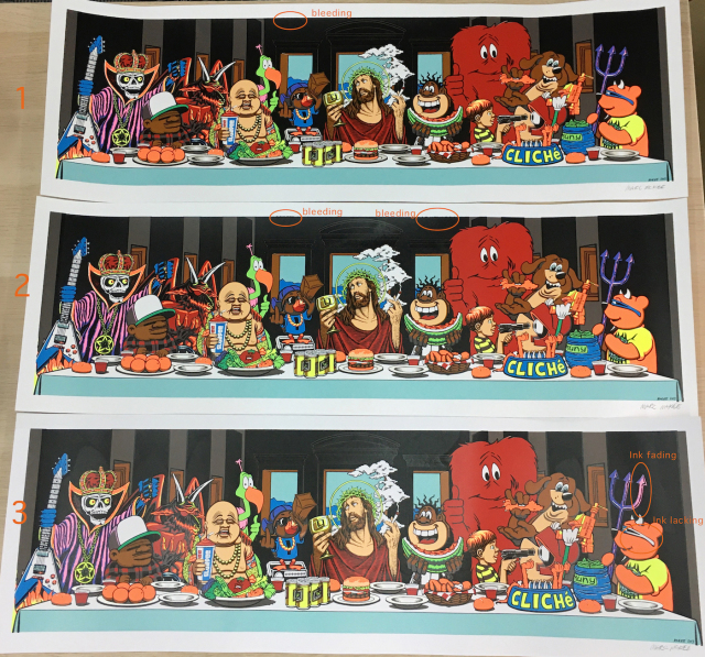 Marc McKee: Last Supper Screen Print(Signed)