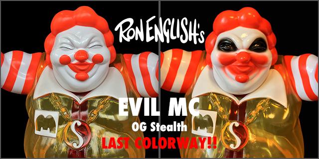 Ron English x BlackBook Toy( ロン・イングリッシュ):EVIL MC 16インチフィギュア OG Stealth edition